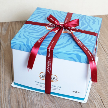 Round birthday packaging cake box