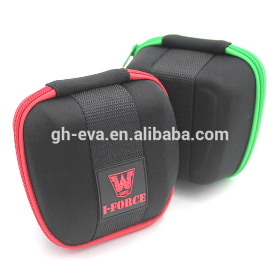 Top protective personalized travel watch case custom eva case with rubber logo