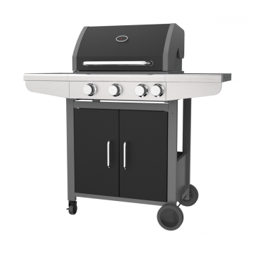Three Burner Double Layer Hood Gas Grill