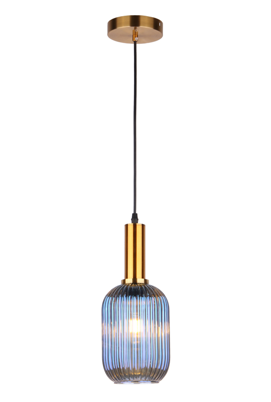 Blue Glass Pendant Lamp