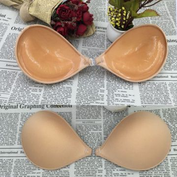 Open Cup Bra Invisible Silicone Push Up Bra