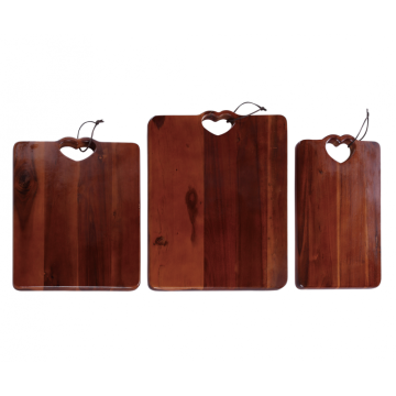 Wooden chopping board with portable hole