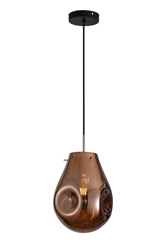 Copper Glass Lamp