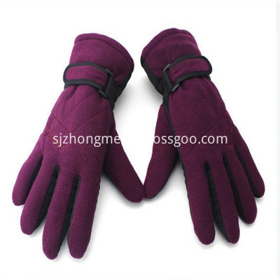 Polar Fleece Gloves Purple