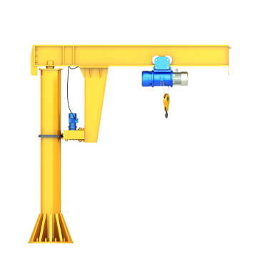 Floor mounted electric hoist jib crane for sale