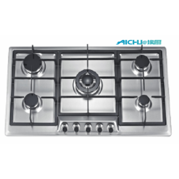 Stainless Steel 5 Burners Built In Hobs