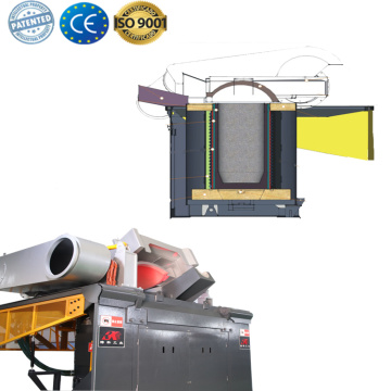 Electric heater steel shell induction metal melter