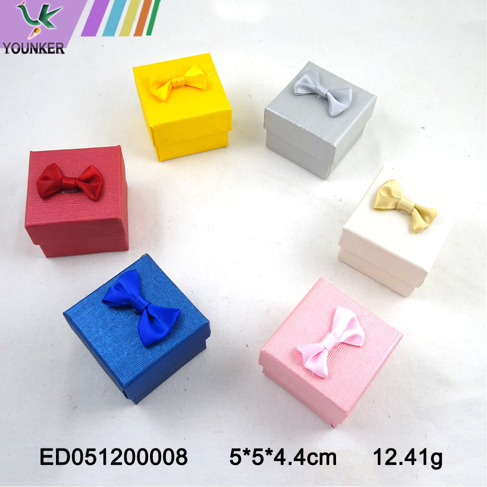 Paper Ring Boxes With Bow