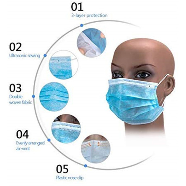 3-plyDisposable Medical Face Mask  CE FDA ISO