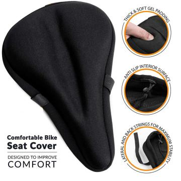 Comfortable Exercise Bike Seat Cushion Cover
