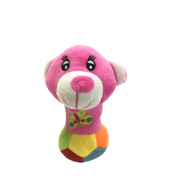 Top Paw Plush Colorful Rattle Dog Toy