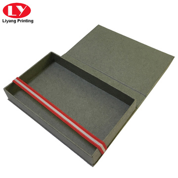 Grey high quality tie packaging gift box