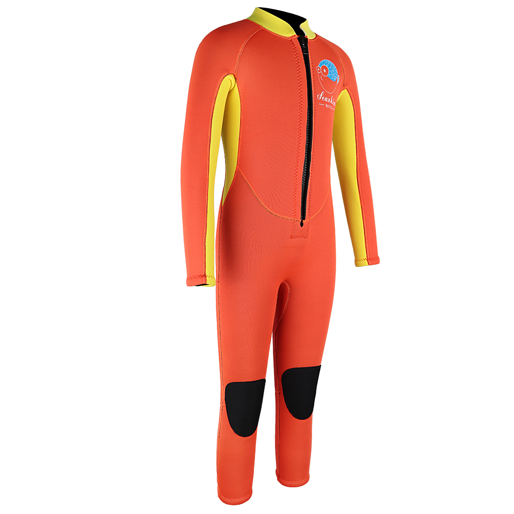 yellow wetsuit diving