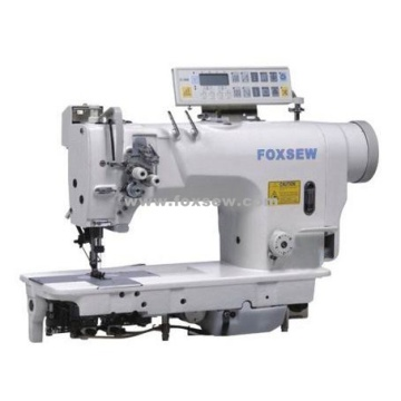 Computer-controlled Direct Drive Fixed Needle Bar Double Needle Lockstitch Sewing Machine