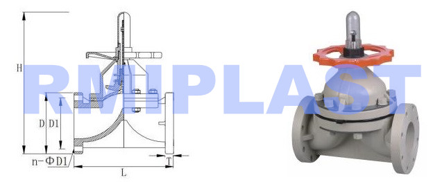 Pph Diaphragm Valve Model Rpv112