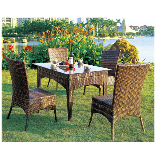 Outdoor furniture hotel use resin wicker dining chair