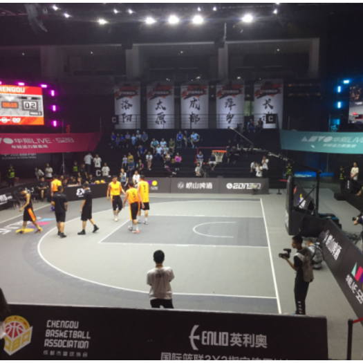 FIBA satisfied PP modular 3X3 basketball sports floor