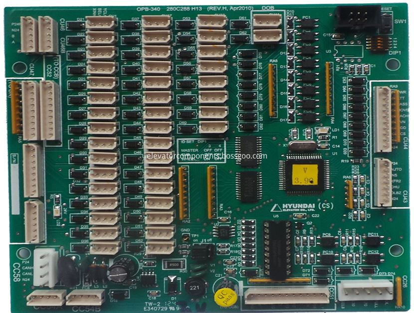 COP Communication Board OPB-340 for Hyundai Elevators STVF7