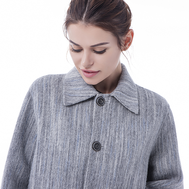 Fashion cashmere wool coat collar