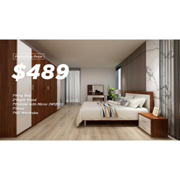 Wooden Melamine Bedroom Sets