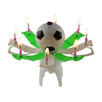 Sparkler fireworks soccot or football birthday candle