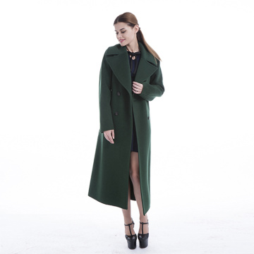 New styles green cashmere winter coat