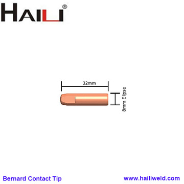 Bernard MIG Gun contact tips E-Cu