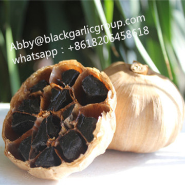 Long-term fermentation black garlic with skin