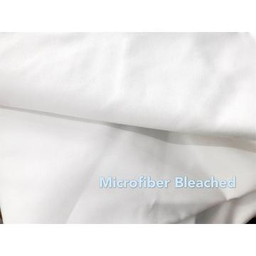 100% Polyester Microfiber Bedsheet Bleached Fabric