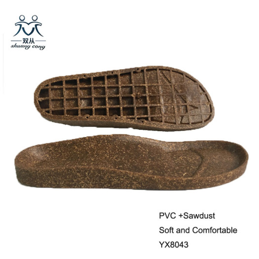 pvc brown shoes sole