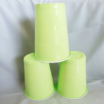 Disposable Green PP Plastic Party Drinking Cup