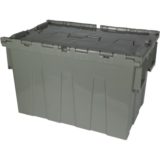 Hinged lidded plastic crate injection mould
