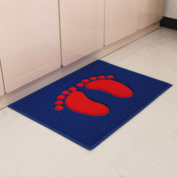 Foot shape joint PVC noodle floor mat