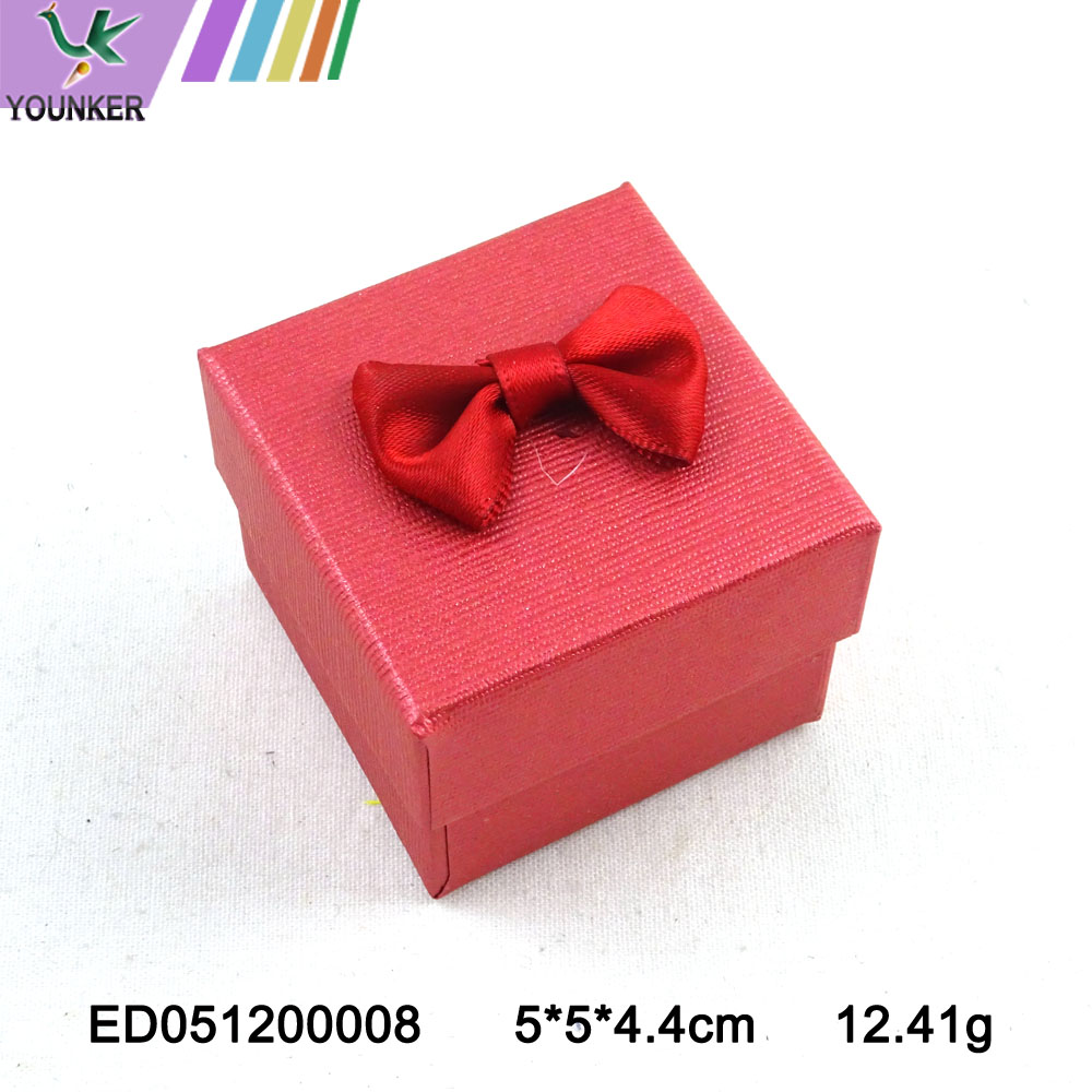 Paper Ring Boxes With Bow Red