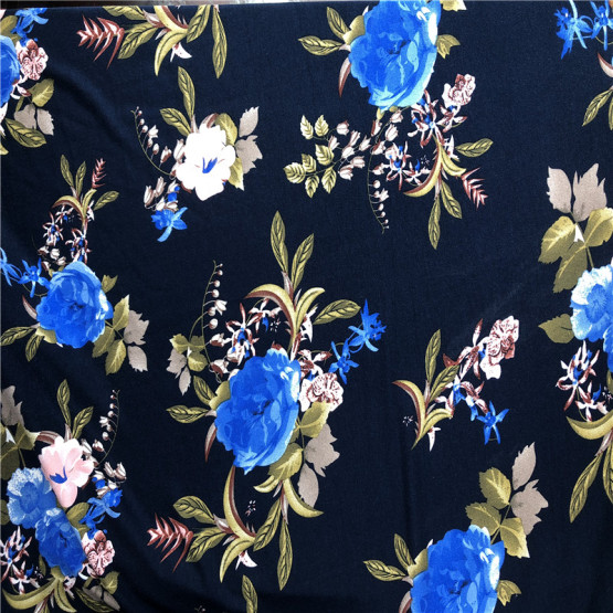 Hot sale classic rayon strentch fabric custom printed