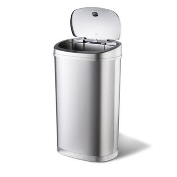 Stainless Steel Ninestars 50L Automatic Supermarket Dust Bin
