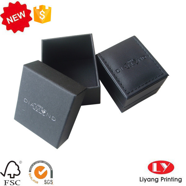 Cardboard Box with Lid for Ring Jewelry Packaging