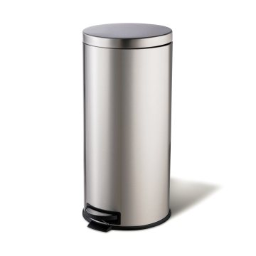 Household Foot Pedal Round Stainless Steel Bedroom Trash Can