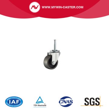 2 Inch Black caster and wheel Swivel Cast Iron Material rubber ball caster stainless steel caster