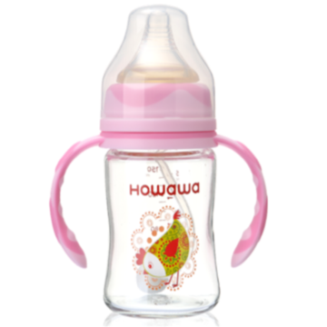 10oz Baby Feeding Glass Bottle With Handle