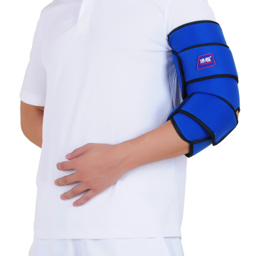 Cold therapy elbow brace wrap with gel pack
