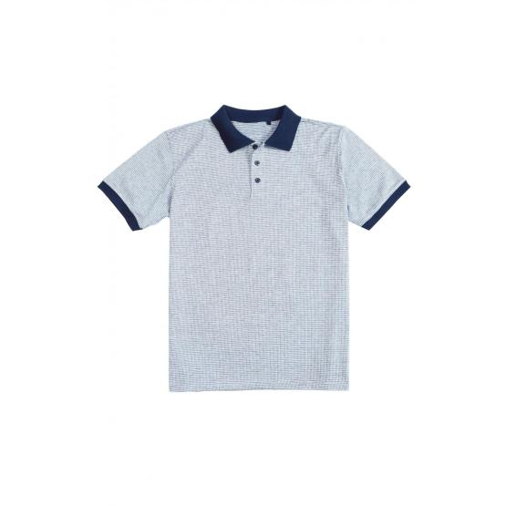 MEN'S KNIT FASHION RIB COLLAR POLO