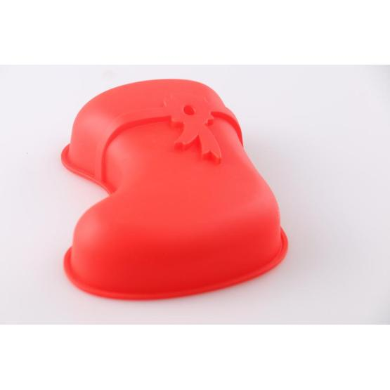 Christmas boots shape silicone baking mold