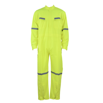 Electrician flame resistant safety coverall