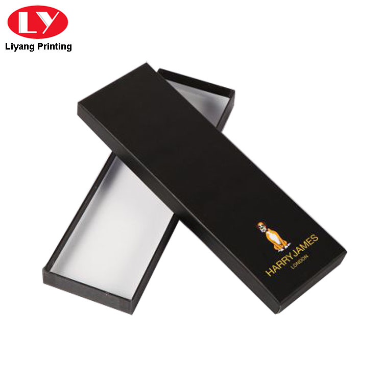Neck Tie Box Gold Logo