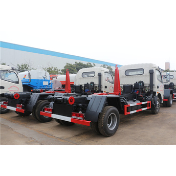 Guranteed 100% Dongfeng 6-8cbm hook garbage trucks