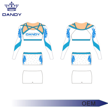 splendid rhinestones lycra white cheer uniform