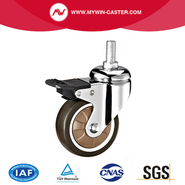 Swivel TPR Medical caster with Brake