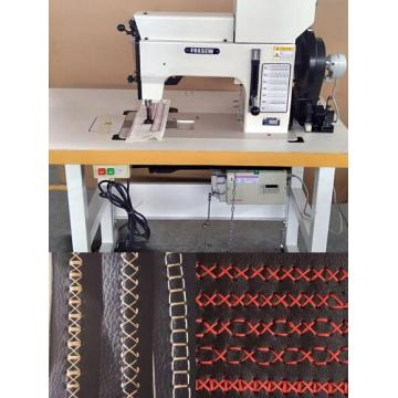 Cams Controlled Leather Ornamental Stitching Machine