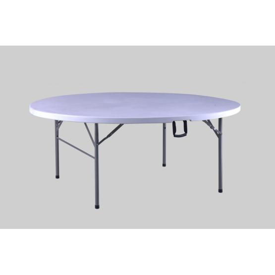 6FT Folding In-Half Round Table
